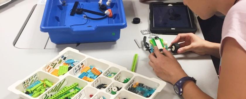 Taller de robótica LEGO Education ROBOTIX en el sitKIDS Barcelona