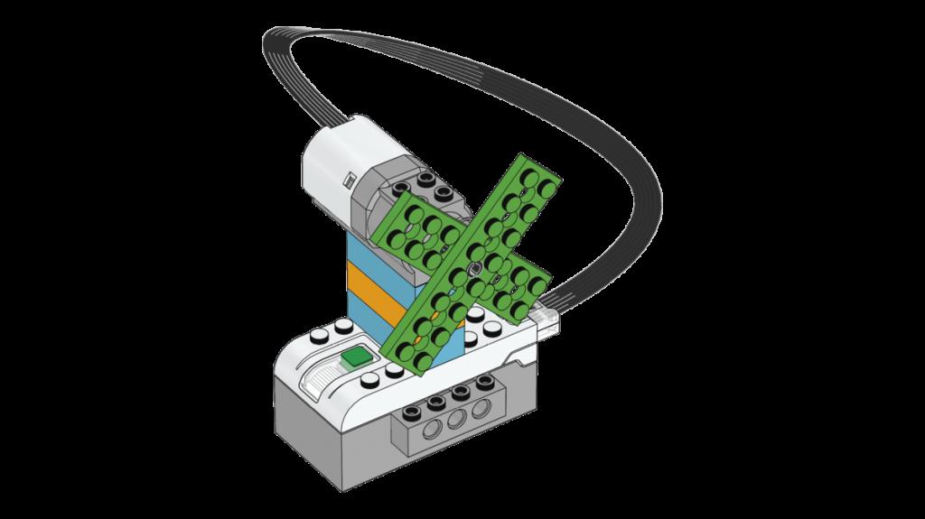 Modelo construcción Ventilador con LEGO Education WeDo 2.0