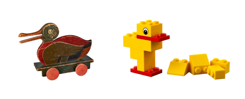Historia de LEGO y Duck
